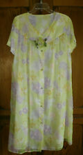Euc M Vintage Evelyn Pearson Beautiful Floral Housecaot Robe Nylon Union Label