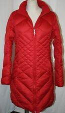 EDDIE BAUER ESSENTIAL goose DOWN PARKA trench COAT jacket RED MT M TALL