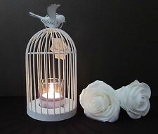Metal Bird Cage Candle Holder With Dove Vintage Shabby Chic