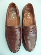 Vintage POLO Ralph Lauren Brown Leather Penny Loafer 10.5 D  Bench Made England