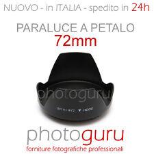 Paraluce a petalo 72mm universale per Canon Nikon Sigma Sony Tamron Pentax 72 mm
