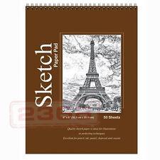 "6"" x 8"" High Quality Spiral Premium Quality Sketch Book Paper Pad 50 Sheet"