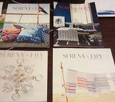 SERENA & LILY Catalog LOT OF 4 Summer Fall Holiday 2013 Early Summer 2014 LOOK:)