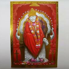 Altarbild  Sai Baba Shirdi, Prägedruck Indien Hinduismus Bild Guru Om Puja 1