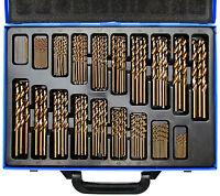BGS Germany 170-pcs Twist Drill Bit Set HSS 5% Cobalt  Metric 1-10mm Hard Steel