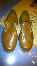 50's Deadstock Men'S Shoes Brown Leather Size 7.1/2 Us