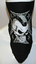 Skull and Iron Cross Textile Neck Warmer  Motorcycle Biker