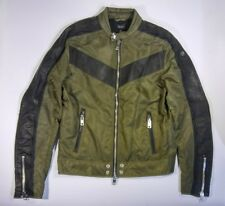 Diesel mens motorcycle jacket leather and nylon size L