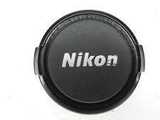 Nikon 58mm Black / Silver Snap On Front Camera Lens Cap
