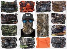 Forest Camo FACE MASK Hunting Sun Shield Neck Gaiter Headband Bandana Cap SPF40