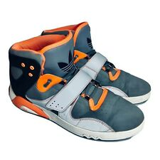 ADIDAS Roundhouse Mid Sneakers Gray Orange Hi Top Basketball Shoes / 11.5