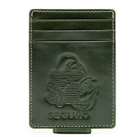 Genuine Leather Money Clip Slim Cardholder For Men - Mens Wallet RFID Blocking