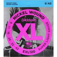 D'Addario Strings D'Addario EXL120 XL Electric Guitar Strings Super Light 9-42