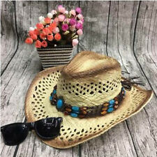 Men's Rafi Straw Hat Beach Sunsreen Cowboy Hat Big Hat Along Picture Color
