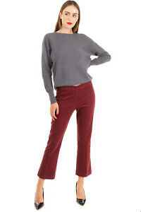 RRP €210 QL2 QUELLEDUE Velour Trousers Size IT 44 / M Stretch Made in Italy