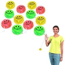 Dazzling Toys 24 Pieces Kids Glitter Smiley Yoyo Ball Clutch String Party Favor