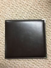 Brown Leather Credit/ Debit card holder book! Great condition! USA SELLER!