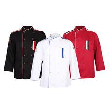 Restaurant Hotel Unisex Chef Coat Jacket Uniform Long Sleeve Shirt Men Women