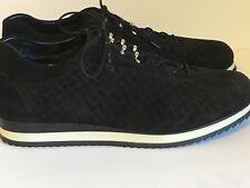 Stuart Weitzman Black Suede Relay Sneaker Black White Size 7.5 M