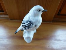 White Robin  pottery figure Crown staffordshire No 6 signed