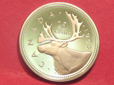 1995 Canada 25 cents  proof        (lower your cost with combined shipping)