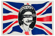 The Sex Pistols * God Save The Queen * Promotional  Poster Circa 1977