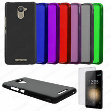 Funda carcasa + PROTECTOR PANTALLA BQ AQUARIS U PLUS Gel TPU Lisa Mate Colores