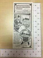 Vintage Travel Brochure Pine Creek Railroad Historic New Jersey's Scenic Line