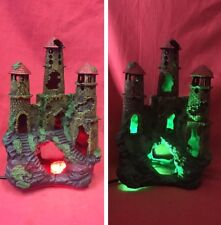 "Fish Ornament Ancient Castle Ruin 8"" LED MULTI COLOURED Shelter Hide Aquarium"
