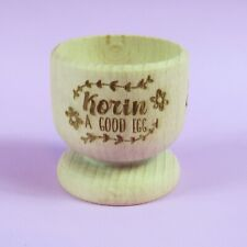 Good Egg Name Wooden Egg Cup | Personalised Egg Cup | Egg Holder | Engraved Egg