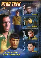 Antigua & Barbuda 2008 MNH Star Trek 4v M/S I Kirk Leonard Nimoy Spock Stamps