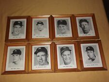 VINTAGE 8 OLD NEW YORK YANKEES BASEBALL PLAYERS FRAMED PICTURES