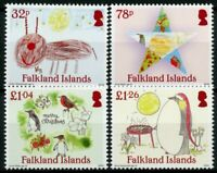 Falkland Islands Christmas Stamps 2020 MNH Penguins Childrens Drawings 4v Set