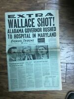 san diego union tribune~ Wallace Shot- Hit 3 Times After Maryland Speech 5/15/72