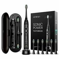 Recharge 6 Brush Head Oral Care Ultra Sonic Electric Toothbrush 5 Cleaning Modes
