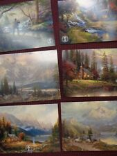 Thomas Kinkade Postcards-group of six/Mt. Paradise-Great North cabins-Lithograph