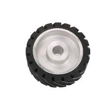 "6 Inch 150mm Rubber Serrated Belt Grinder Wheel Polishing Contact Wheels 1"" Hole"