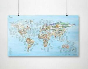 Climbing MAP by Awesome Maps - (poster, gift)