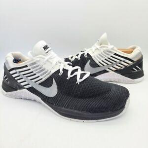Nike Metcon DSX Flyknit Black White Workout Crossfit Shoes US Men's Size 12