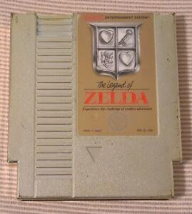 Original Vintage NES The Legend Of Zelda Gold Cartridge Nintendo 1985 Tested