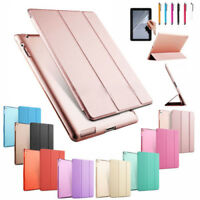 "Smart Magnetic Case Leather Stand Folding Cover For 2017 iPad 9.7""5th Generation"