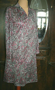Gr. 44/46 - True Vintage 70er – Kleid – leichtes Hängerchen - synth.Seidenjersey