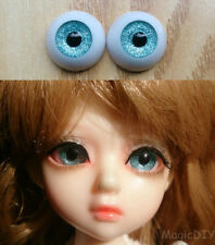 12mm Hand Made BJD Doll Eyes Snow Blue Acrylic Half Ball