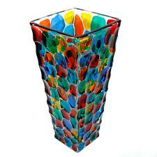 Murano Glass Vase Multi Coloured Hand Made Hand Painted Millefiori 30cm High