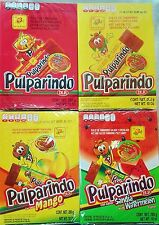Pulparindo Mexican Candy Watermelon,Tamarindo,Mango,Extra Hot & Salted  4 Pack