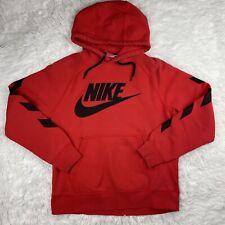 New listing Nike Mens Medium Sweatshirt Hoodie Sweater Red Black Heavyweight