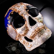 Men's Full Face Musical Skull Day of the Dead Halloween Masquerade Mask [Blue]