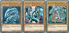 3x INGLESE Blue-Eyes White Dragon / Drago Bianco Occhi Blu ☻ Comune ☻ LDK2 ENK01
