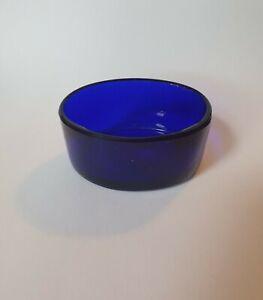 OVAL COBALT BLUE GLASS LINER INSERT Salt / Mustard / Pepper 50mm x  37mm x 24mm