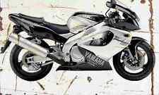 Yamaha YZF1000R Thunderace 2001 Aged Vintage SIGN A4 Retro